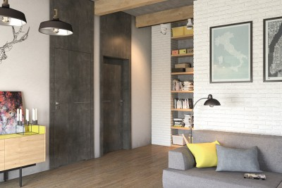 Drzwi wewnętrzne Porta LINE D.1 Okleina Portasynchro 3D *** Jesion Capri 3