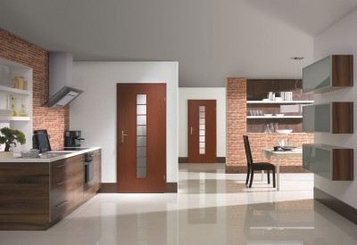 Interior doors Porta DECOR Large light Portaperfect 3D veneer **** Havana Oak