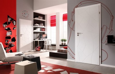 Interior doors Porta VECTOR E Premium Varnish **** White
