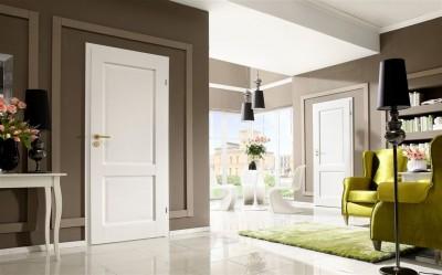 Drzwi wewnętrzne CORDOBA małe okienko Okleina Naturalna Dąb Satin **** Dąb Biały
