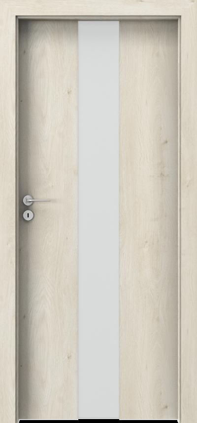 Drzwi wewnętrzne Porta FOCUS 2.0 szyba matowa Okleina Portaperfect 3D **** Dąb Skandynawski