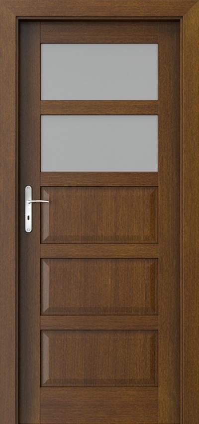 Drzwi wewnętrzne TOLEDO 2 Okleina Naturalna Dąb Satin **** Tabacco