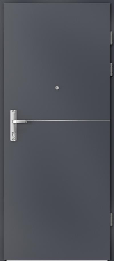 Drzwi wejściowe do mieszkania EXTREME RC3 intarsje 7 Okleina CPL HQ 0,2 ***** Antracyt HPL CPL