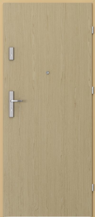 Drzwi wejściowe do mieszkania AGAT Plus pełne Okleina Naturalna Select **** Dąb