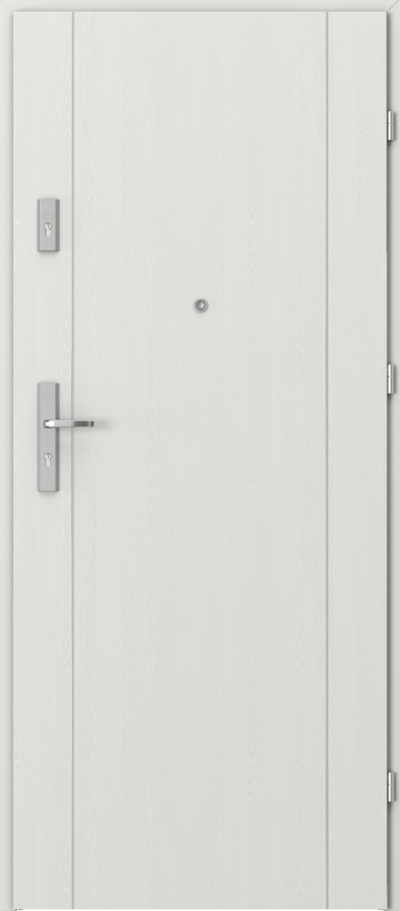 Drzwi wejściowe do mieszkania OPAL Plus intarsje 1 Okleina Portasynchro 3D *** Wenge White