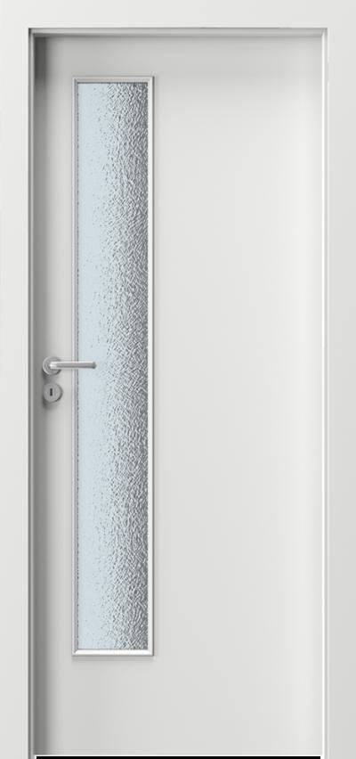 Drzwi wewnętrzne Porta VERTE BASIC lift Płyta lakierowana Biały