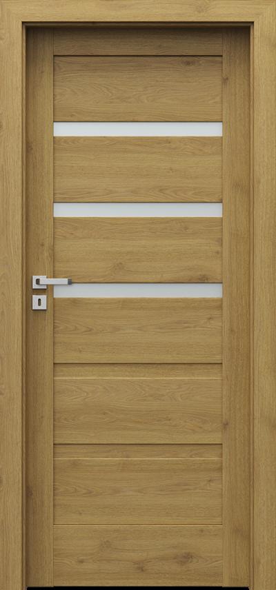 Drzwi wewnętrzne Porta VERTE HOME, H H.3 Okleina Portaperfect 3D **** Dąb Naturalny
