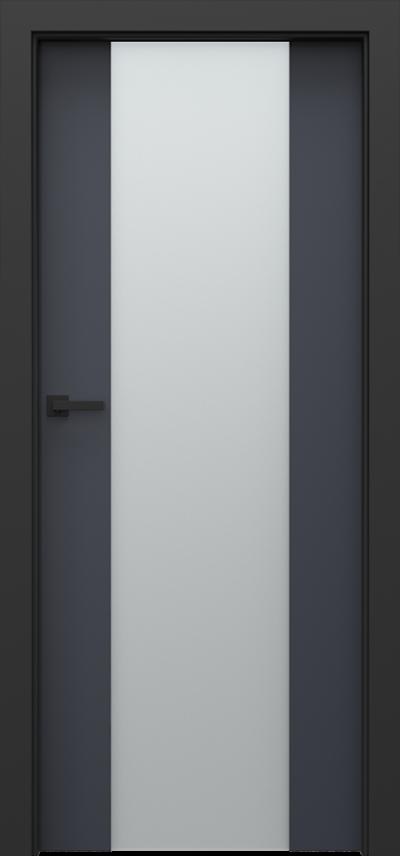 Drzwi wewnętrzne Porta LOFT 4.B Okleina CPL HQ 0,2 ***** Antracyt HPL CPL