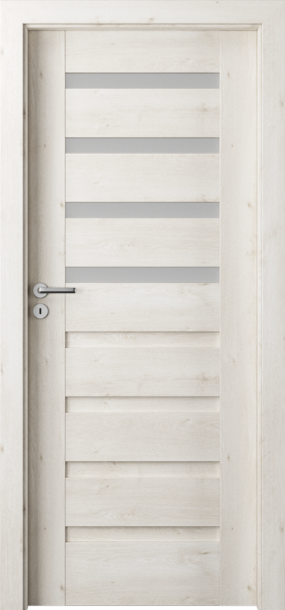 Drzwi wewnętrzne Porta VERTE PREMIUM, D D.4 Okleina Portaperfect 3D **** Dąb Skandynawski
