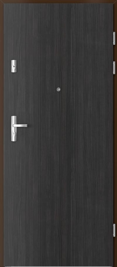 Drzwi wejściowe do mieszkania KWARC pełne Okleina CPL HQ 0,7 ****** Struktura ciemny