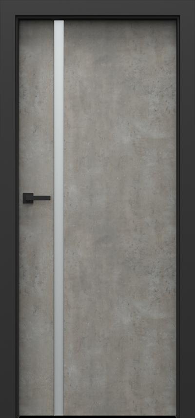 Drzwi wewnętrzne Porta LOFT 4.A Okleina CPL HQ 0,2 ***** Beton jasny