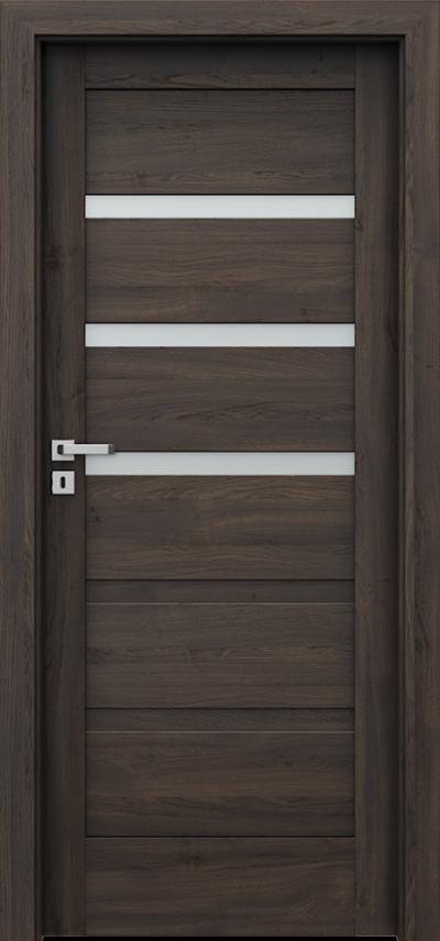 Drzwi wewnętrzne Porta VERTE HOME, H H.3 Okleina Portasynchro 3D *** Dąb Ciemny