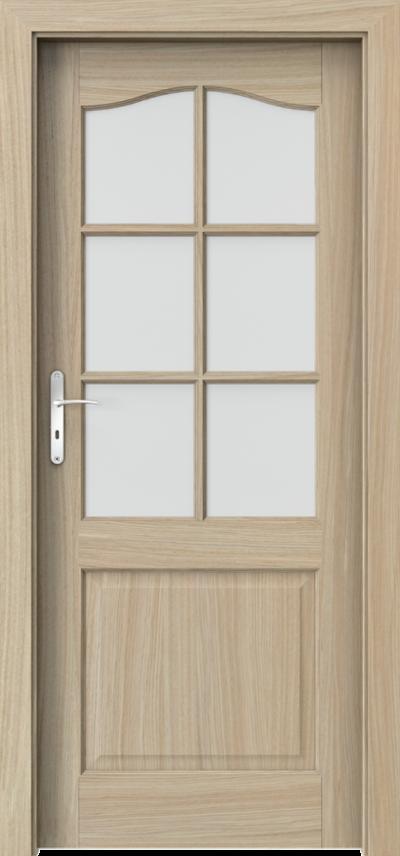 Drzwi wewnętrzne MADRYT szpros Okleina Naturalna Dąb Satin **** Dąb Jasny