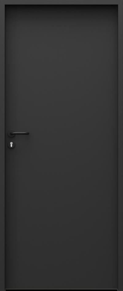 Drzwi techniczne Steel SOLID Pełne