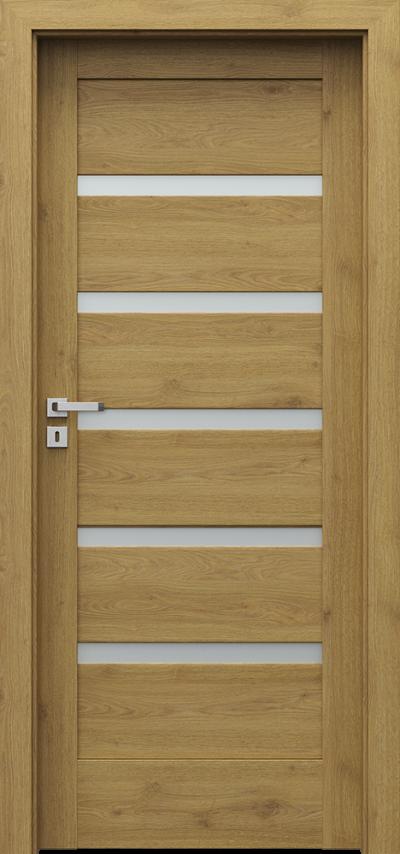 Drzwi wewnętrzne Porta VERTE HOME, H H.5 Okleina Portaperfect 3D **** Dąb Naturalny