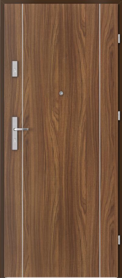 Drzwi wejściowe do mieszkania OPAL Plus intarsje 1 Okleina CPL HQ 0,7 ****** Orzech Modena 1