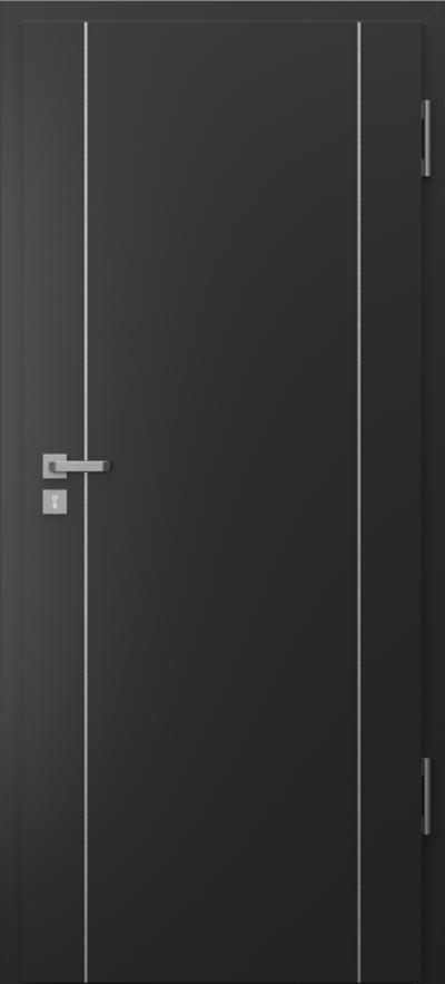 Drzwi techniczne Porta SILENCE 37 dB + EI30 intarsje 1