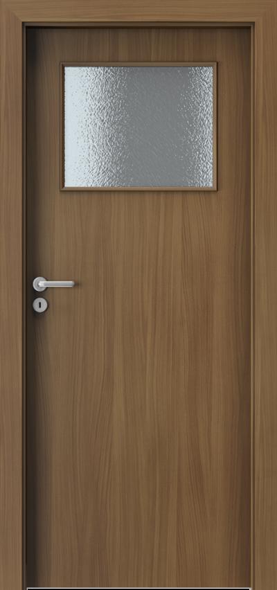 Drzwi wewnętrzne Porta VERTE BASIC mała ramka Płyta lakierowana Orzech