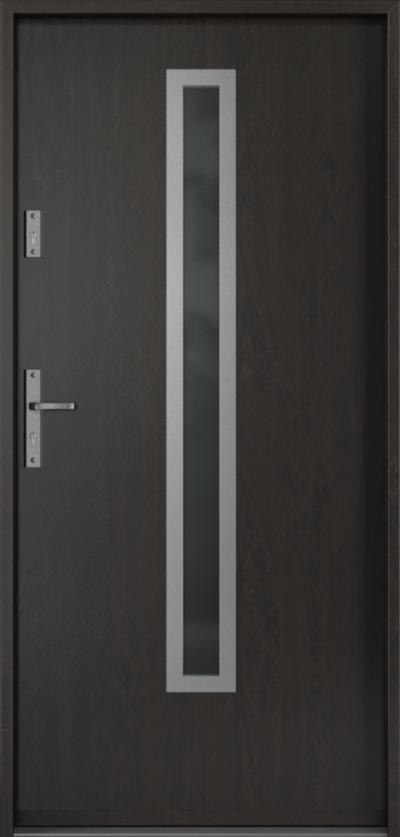 Drzwi wejściowe do domu Steel SAFE RC3 B1 Blacha Stalowa Laminowana PCV ***** Dąb Bagienny