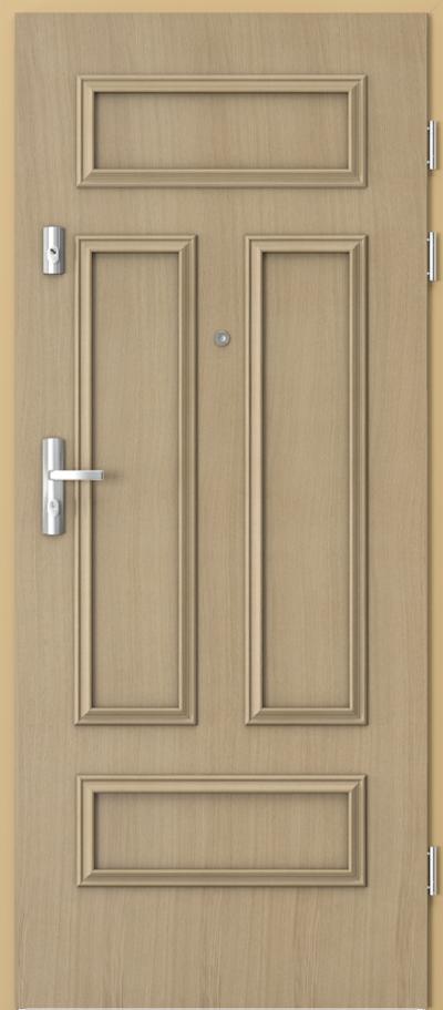 Drzwi wejściowe do mieszkania GRANIT ramka 2 Okleina Naturalna Dąb **** Dąb 1