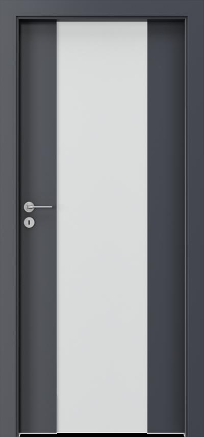 Drzwi wewnętrzne Porta FOCUS 4.B Okleina CPL HQ 0,2 ***** Antracyt HPL CPL