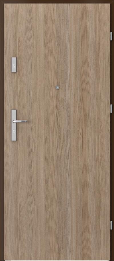 Drzwi wejściowe do mieszkania OPAL Plus pełne Okleina CPL HQ 0,2 ***** Dąb Milano 2