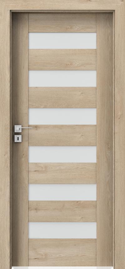 Interiérové dveře Porta KONCEPT C.6 Fólie Portaperfect 3D **** Dub Klasický