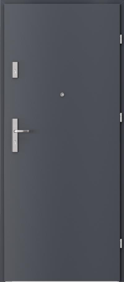 Drzwi wejściowe do mieszkania AGAT Plus pełne Okleina CPL HQ 0,2 ***** Antracyt HPL CPL