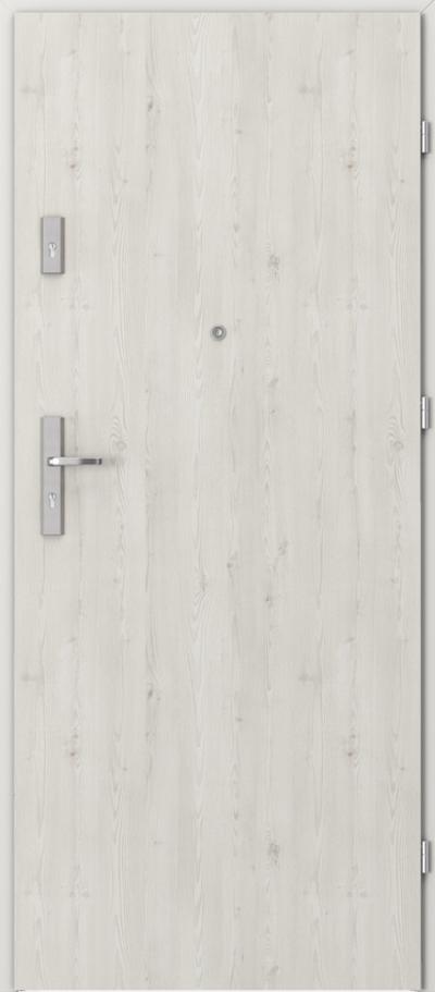 Drzwi wejściowe do mieszkania AGAT Plus pełne Okleina Portasynchro 3D *** Sosna Norweska