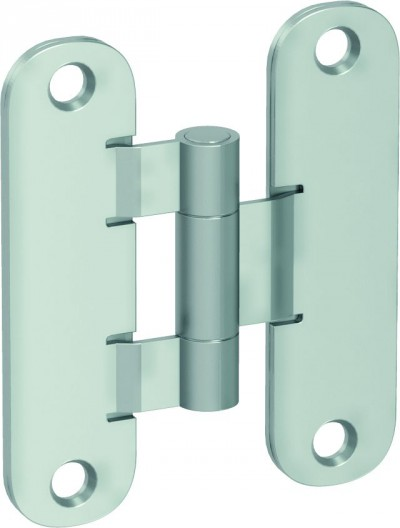 Accessories Hinges and hinge covers Standard hinge – door leaf and door frame part silver matt METAL Silver matt