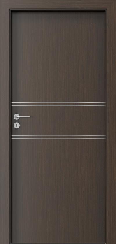 Drzwi wewnętrzne Porta LINE C.1 Okleina Portadecor *** Wenge
