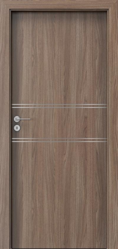 Drzwi wewnętrzne Porta LINE C.1 Okleina Portadecor *** Orzech Verona 2
