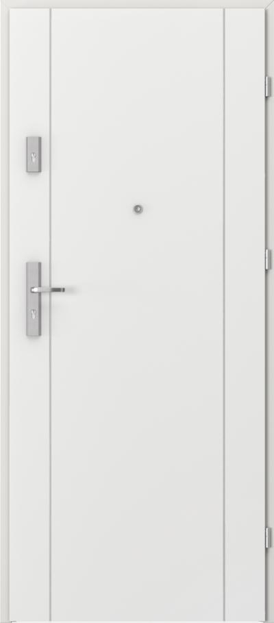 Drzwi wejściowe do mieszkania OPAL Plus intarsje 1 Okleina CPL HQ 0,2 ***** Biały