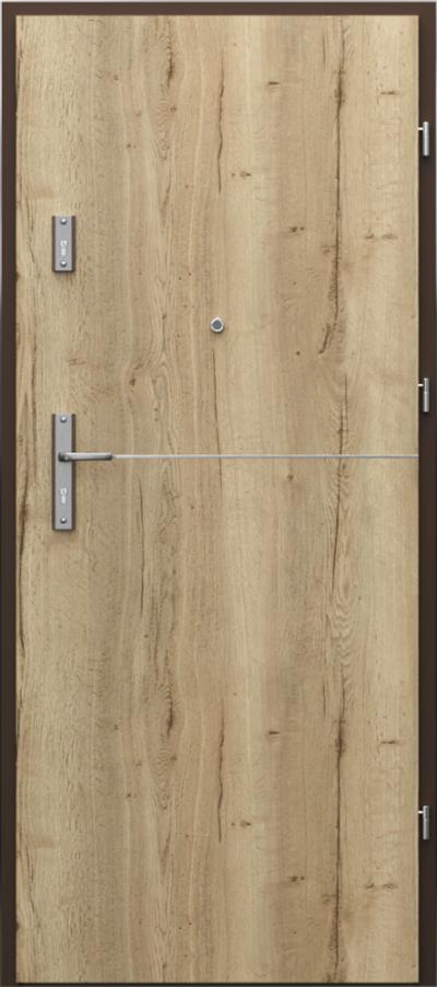 Drzwi wejściowe do mieszkania OPAL Plus intarsje 7