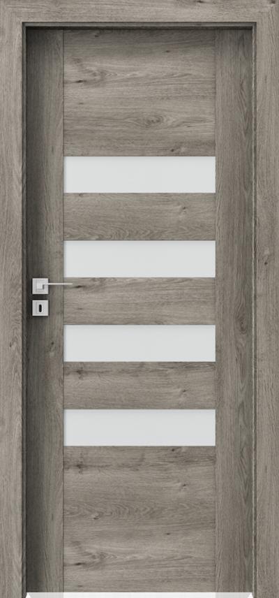 Interiérové dveře Porta KONCEPT H.4 Fólie Portaperfect 3D **** Dub Sibiřský