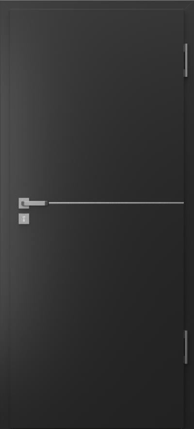 Drzwi techniczne Porta SILENCE intarsje 7 Okleina CPL HQ 0,2 ***** Czarny