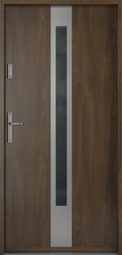 Drzwi wejściowe do domu Steel SAFE RC3 Thermo C1 Blacha Stalowa Laminowana PCV ***** Orzech