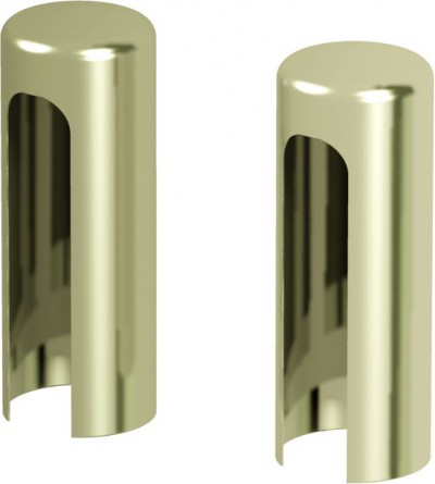Accessories Hinges and hinge covers Covers for hinges for exterior doors (set per one hinge) gold METAL Gold