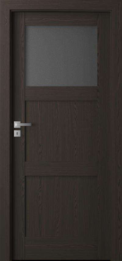 Drzwi wewnętrzne Natura GRANDE B.1 Okleina Naturalna Select **** Orzech Ciemny