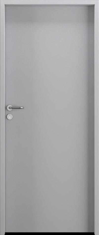 Drzwi techniczne Steel SOLID Pełne Farba Poliestrowa Premium ***** Popielaty MAT