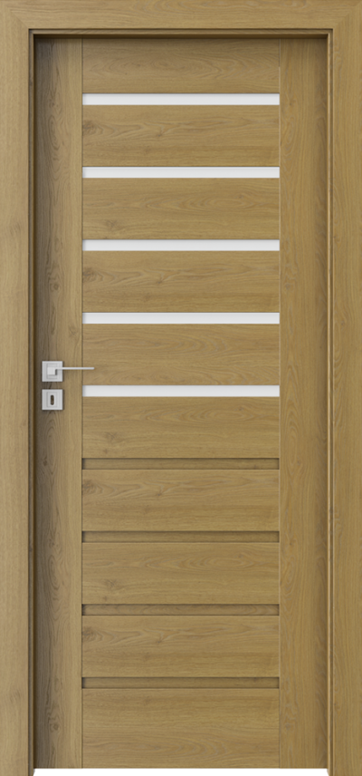 Drzwi wewnętrzne Porta KONCEPT A.5 Okleina Portaperfect 3D **** Dąb Naturalny