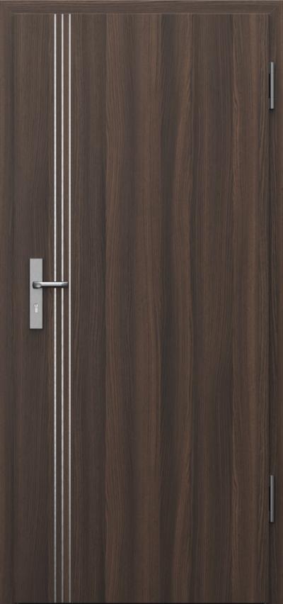Drzwi techniczne INNOVO 42 dB Intarsje 3 Okleina CPL HQ 0,2 ***** Dąb Milano 5