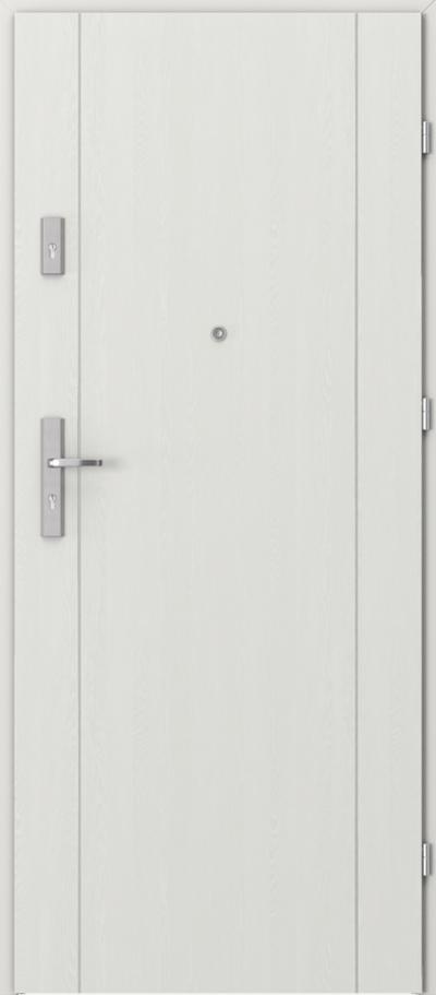Drzwi wejściowe do mieszkania AGAT Plus intarsje 1 Okleina Portasynchro 3D *** Wenge White