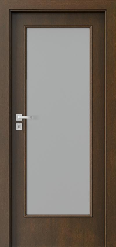 Drzwi wewnętrzne Natura CLASSIC 1.3 Okleina Naturalna Dąb Satin **** Mocca