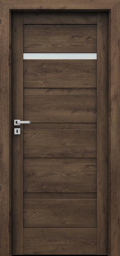 Drzwi wewnętrzne Porta VERTE HOME, H H.1 Okleina Portaperfect 3D **** Dąb Południowy