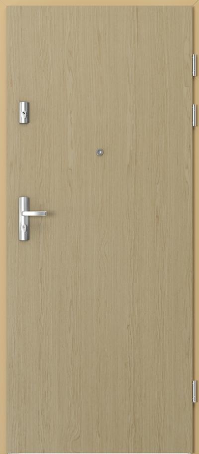 Drzwi wejściowe do mieszkania KWARC pełne Okleina Naturalna Select **** Dąb