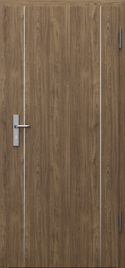 Technical doors INNOVO 42 dB Intarsje 9 CPL HQ 0,7 laminate ****** Natural walnut (matt)