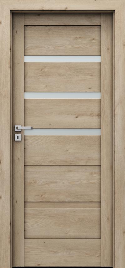 Drzwi wewnętrzne Porta VERTE HOME, H H.3 Okleina Portaperfect 3D **** Dąb Klasyczny