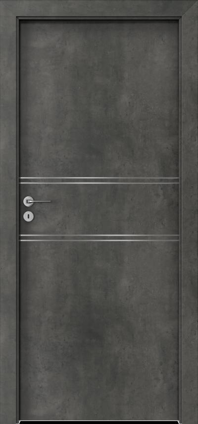 Drzwi wewnętrzne Porta LINE C.1 Okleina CPL HQ 0,2 ***** Beton Ciemny