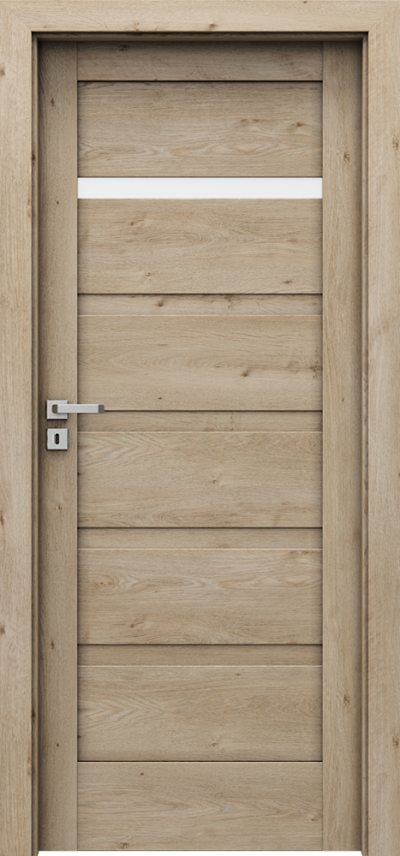 Drzwi wewnętrzne Porta VERTE HOME, H H.1 Okleina Portaperfect 3D **** Dąb Klasyczny